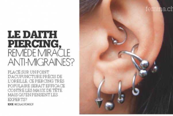 Le Daith piercing, remède miracle anti-migraines ?