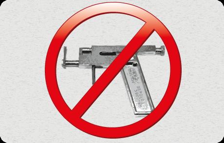 Pourquoi pas de piercing au pistolet ?